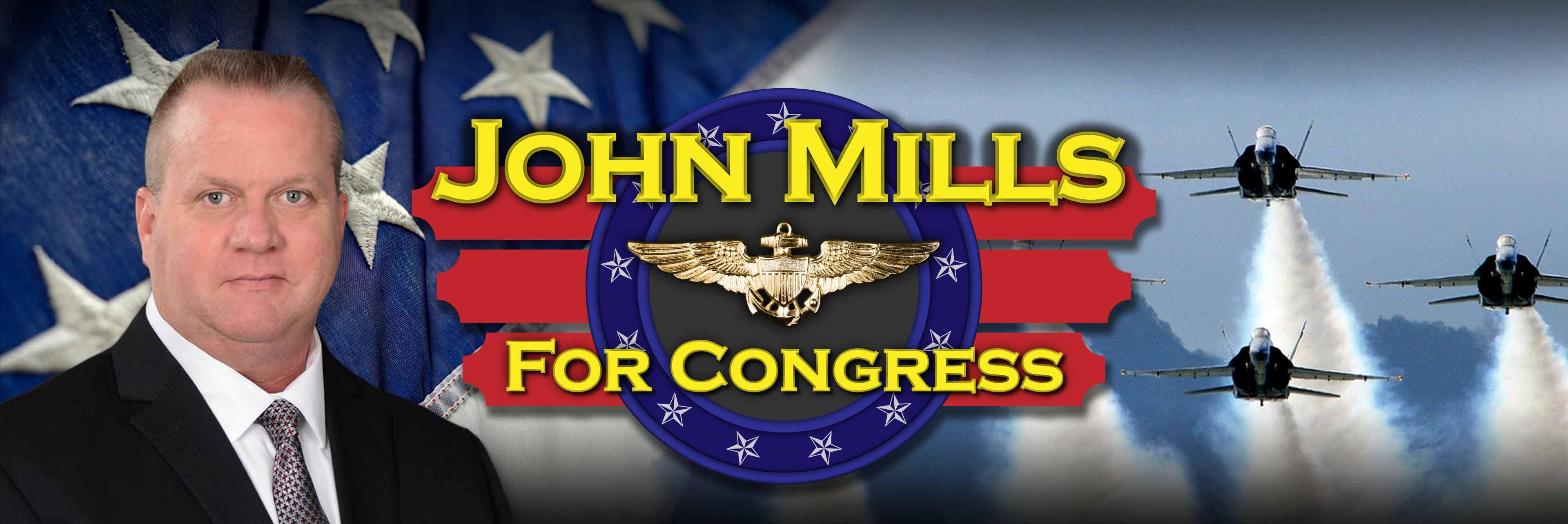 John Mills for Congress Banner